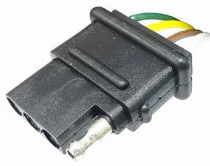 60 U0026quot  Wire Harness - 4-way Flat Connector - Car And Trailer End Loop - Wire