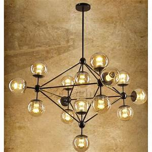 Unique light hand blown glass industrial ceiling lighting