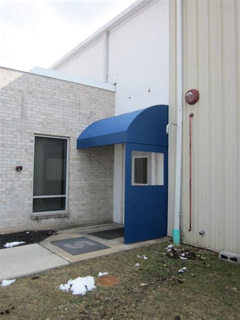 clear side panel   blue commercial awning kreiders canvas service