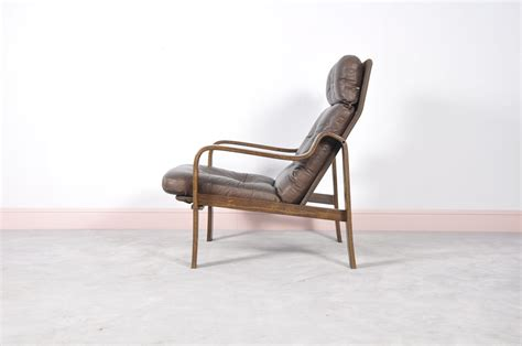 Mid-century Rosewood, Leather, & Bentwood Armchair For