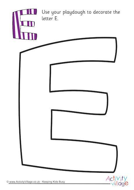 alphabet decorate  letter  playdough mat upper case