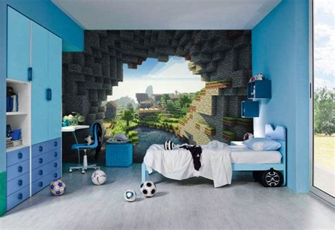 Minecraft Bedroom Pictures by Minecraft Wall Murals By Inkyourwall On Etsy Minecraft