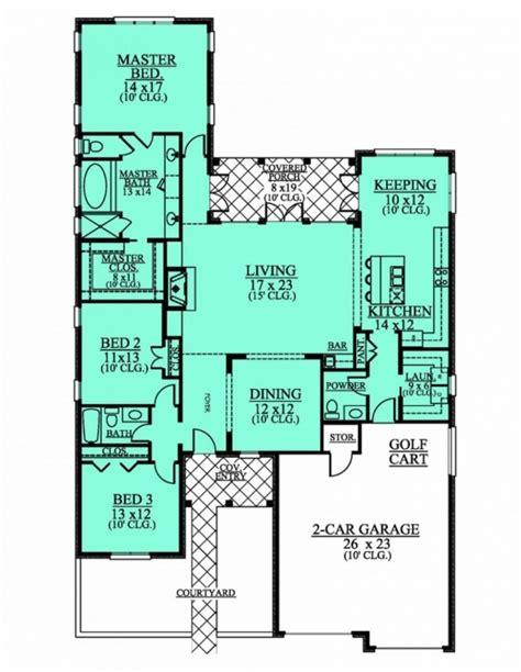 Great 654190  1 Level 3 Bedroom 25 Bath House Plan
