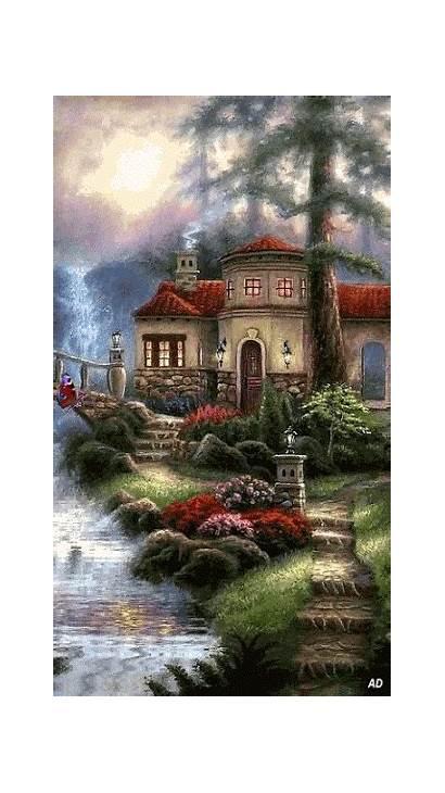 Kinkade Thomas Nature Gifs Paintings Cottage Google