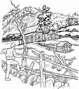 Coloring Adult Cabins Snowy Pages Books Cabin Colouring Crayons Architecture sketch template