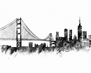 San Francisco Print, San Francisco Skyline, Art Print ...