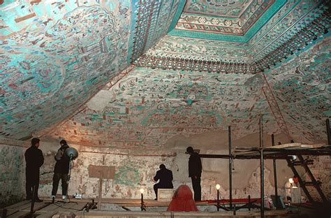 wall paintings conservation  mogao grottoes