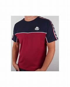 robe di kappa dunlin t shirt burgundy navy mens kappa tee With tee shirt robe