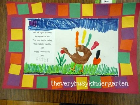 the busy kindergarten more easy turkey projects 403 | placemat