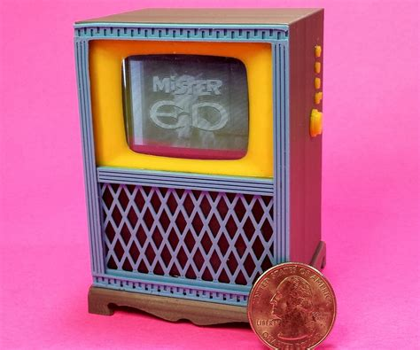 working miniature television miniatures television