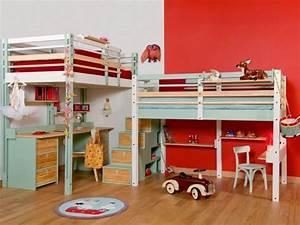 Lit Mezzanine Bureau Enfant : 2 enfants une chambre 8 solutions pour partager l 39 espace ~ Teatrodelosmanantiales.com Idées de Décoration