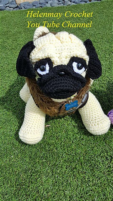 ravelry pug amigurumi dog pattern  helen brady