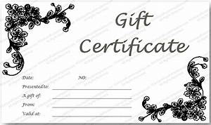 black glades gift certificate template With black and white gift certificate template free