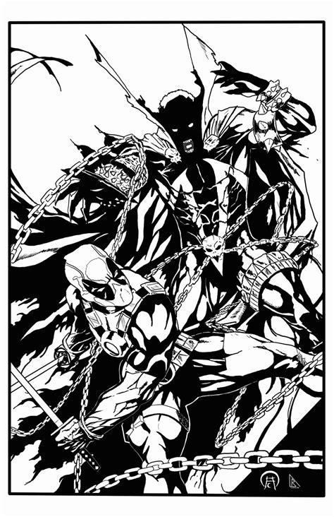 Spawn Vs Deadpool Inks By Bdixonarts On Deviantart