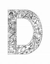 Coloring Alphabet Letter Adults Adult Detailed Coloriage Malvorlagen Kleurplaten Template Alfabet Doodle Colorier Dessin Printable Ausmalbilder Mittelalter Buchstaben Boek Getcolorings sketch template