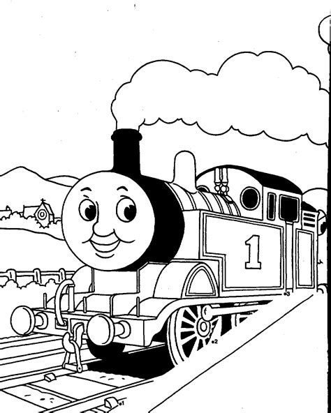 Free Thomas The Tank Engine Coloring Pages Free Free