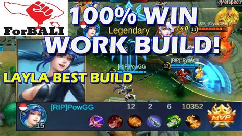 100% Win Best Marksman Build For Layla Mobile Legends