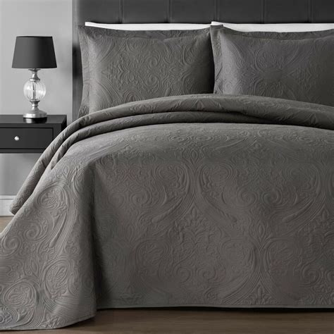 Lightweight Coverlets by Lightweight Floral Thermal Pressing King 3