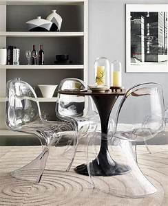 Stuhl Panton Chair : acrylique transparent empilable mobilier de salon chaise acrylique transparent empilable ~ Markanthonyermac.com Haus und Dekorationen