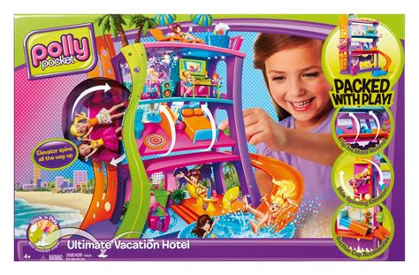 polly pocket spin  surprise hotel playset