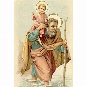 Saint Christophe Patron : victorian religious card st christopher patron saint of from robinsnestmidwest on ruby lane ~ Medecine-chirurgie-esthetiques.com Avis de Voitures