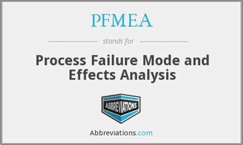 process failure modes and effects analysis pfmea process failure mode and effects analysis