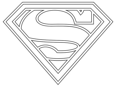 Coloring Pages Superman Logo Free Page Site 735155