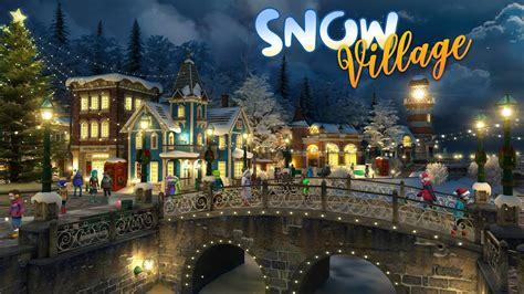 snow village   wallpaper  screensaver youtube