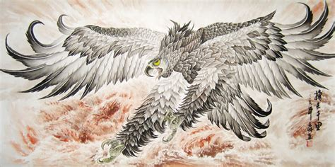 eagle chinese bird painting