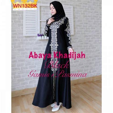 baju muslim pesta bordir abaya khadijah grosir gamis