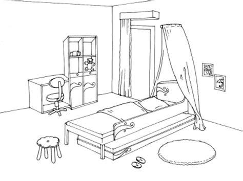 coloriage de chambre de fille dessin de chambre solutions pour la décoration