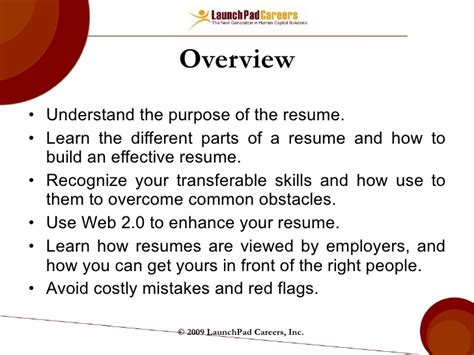 100 parts of a resume sle objectives resume