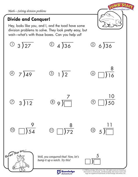 fourth grade math worksheet division division for 5th grade practice