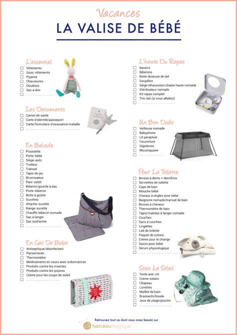 liste chambre bébé printable la liste des indispensables pour la valise des