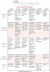 Mis En Pieces Mots Fléchés : liste complete organized pinterest t ches m nag res organisation et astuces ~ Medecine-chirurgie-esthetiques.com Avis de Voitures