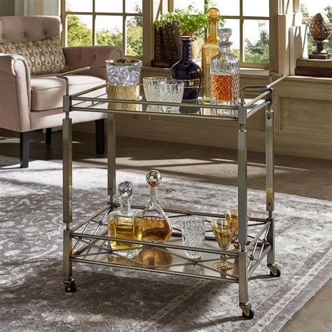 Bar Cart by Homesullivan Anise Antique Brass Bar Cart 40620abs 07