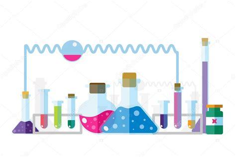 Laboratoire Scientifique Icônes Isolé Set Vecteur
