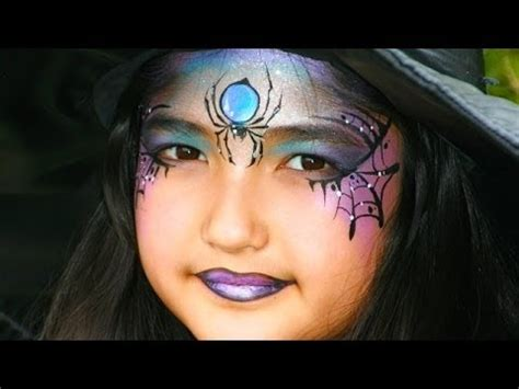 Maquillage Sorcière Adulte Facile Witch Painting Tutorial Pretty Witch And Spider Makeup For