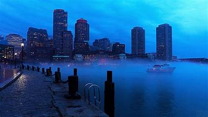 Evening Cinemagraph Misty Cityscape Night Boston Giphy
