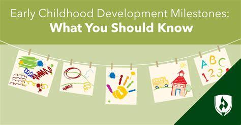 early childhood development milestones