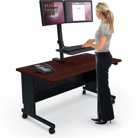 balt up rite rear desk mounted sit and stand workstation
