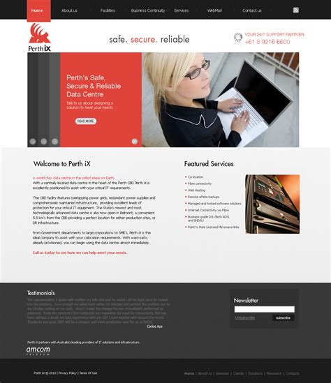 Serious, Modern, Internet Web Design For A Company By