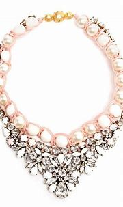 SHOUROUK   Embellished Pearl Necklace   Pink pearl jewelry ...