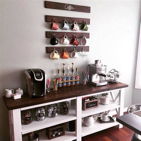 Sturdy stand balances mugs even in unbalanced locations. Coffee bar   Coffee bar home, Home coffee stations, Small space kitchen