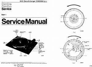 Philips 22gc006 22ga406 Hifi Turntable Service Info 1977