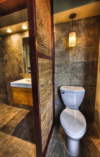 tropical bathroom design soffit  counter  toilet