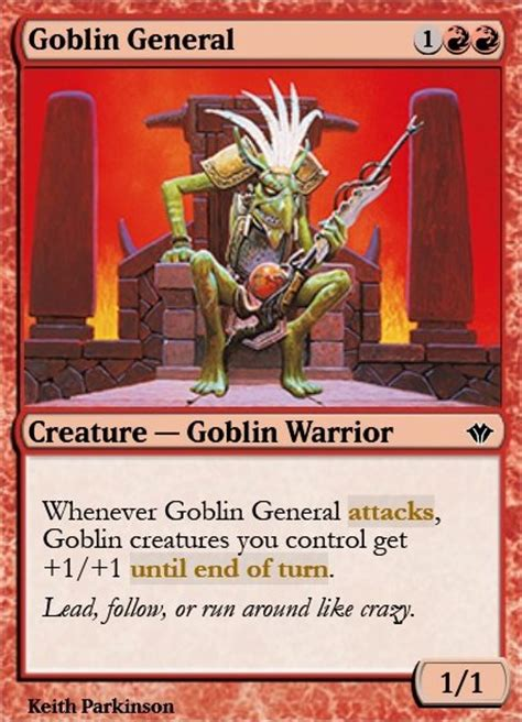 Goblin Charbelcher Vintage Deck by Goblin General Mtg Card