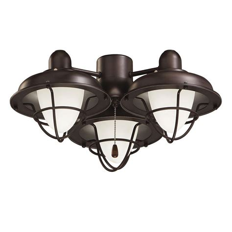 rubbed bronze ceiling fan light kit illumine zephyr 3 light rubbed bronze ceiling fan