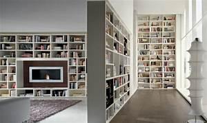 Bibliothèque Murale Contemporaine : 25 id es de meubles de salon design par nord isere d coration ~ Teatrodelosmanantiales.com Idées de Décoration