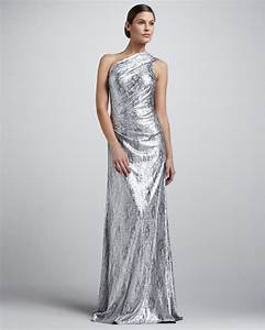 metallic wedding guest dresses silver one shoulder With silver dress for wedding guest